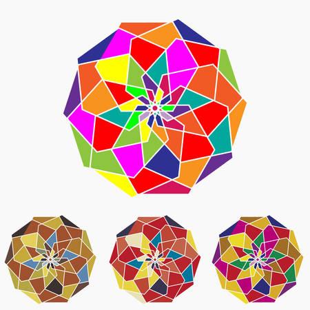 colore: Flat pattern. Colore geometrical ornament tiles. Illustration