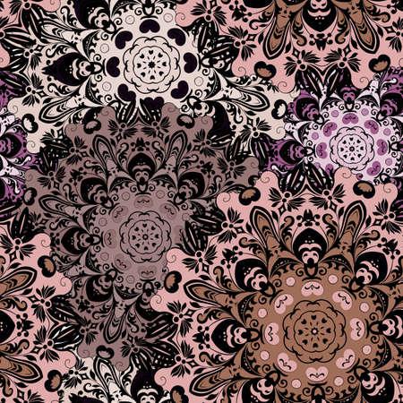 Vintage seamless oriental. Indienne, arabe, ottoman, turc, japonais, motif floral chinois pour le fond ou front-side. ornement oriental pour l'emballage ou textil.
