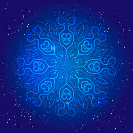 esoterics: Symbol of sacred geometry, depict fundamental aspects of space and time.Flower of life. Mental esoteric ornament. Universe and space