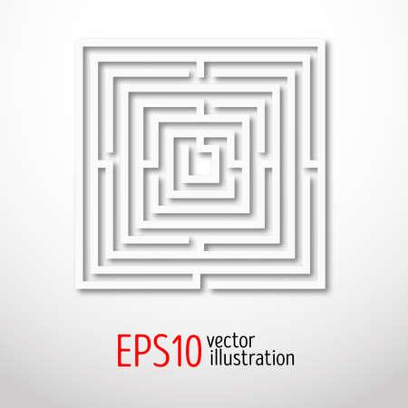quadrant: Quadrant white labyrinth. Sacral geometry illustration. Mysterious shape