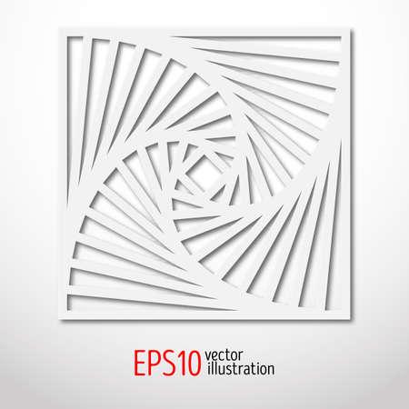 sacral: Square paper 3d design. Sacral geometry pattern.  Mystery shape. Abstract illustration. Illustration