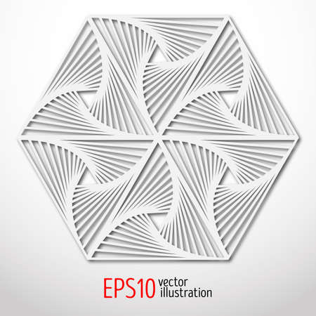 Hexagonal paper 3d design. Sacral geometry Mystery shape.Abstract art design.