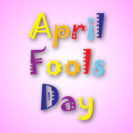 idiot box: Illustration of april Fools Day. vector illustration