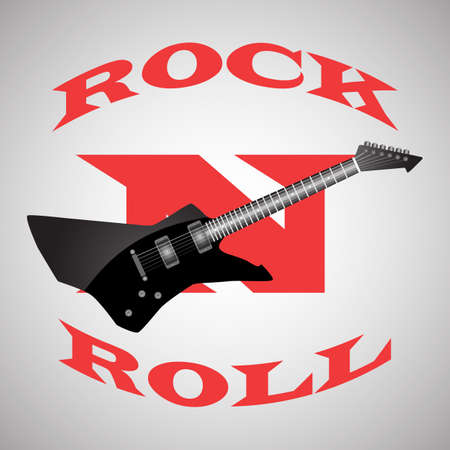 poster to the world day of rock n roll ,black guitar