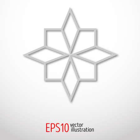 sacral: Paper 3d design. Sacral geometry Mystery shape.Abstract art design.