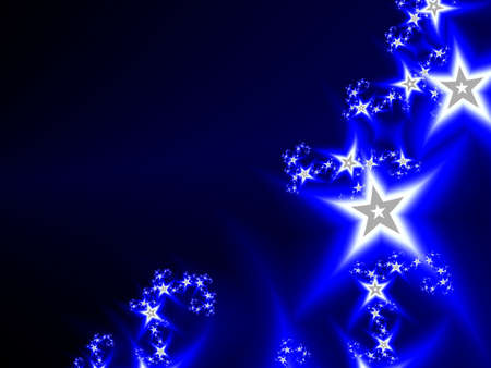 Abstract cosmic deep blue background with stars