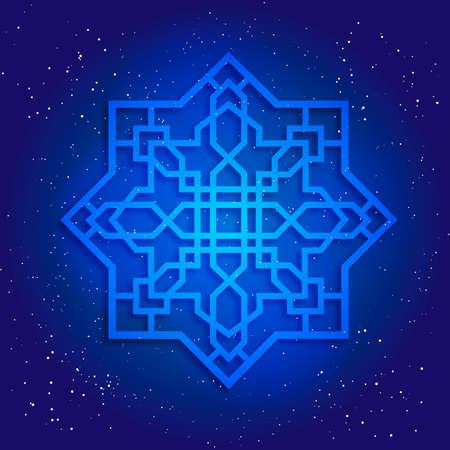 sacral: Sacral geometry figure in cosmic sky
