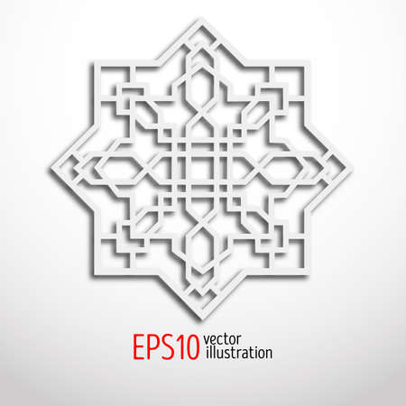 sacral: Arabesque design in 3d. Eastern pattern. Sacral geometry. Illustration