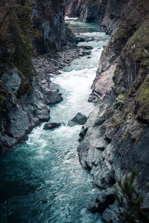 White River in the granite gorge, Republic of Adygea