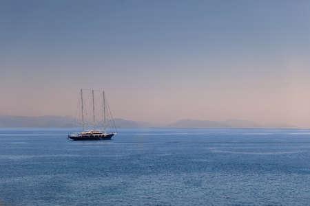 Three-masted yacht