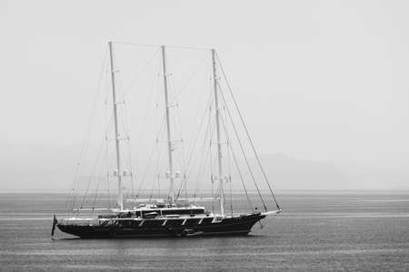Three-masted yacht