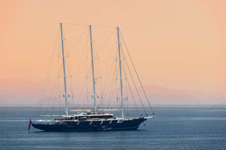 Three-masted yacht photo