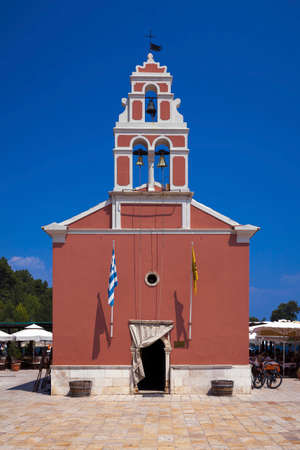 Church in Gaios village on Paxos island