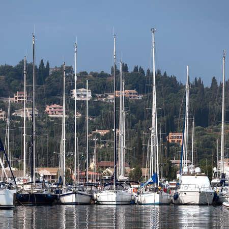 port Bay of Gouvia, Corfu island Editorial