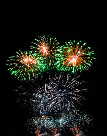 Colorful fireworks of various colors over night sky Stock Photo - 22496632