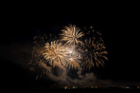 Colorful fireworks of various colors over night sky Stock Photo - 22496960