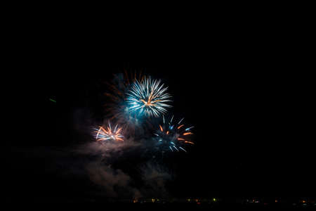 Colorful fireworks of various colors over night sky Stock Photo - 22497147
