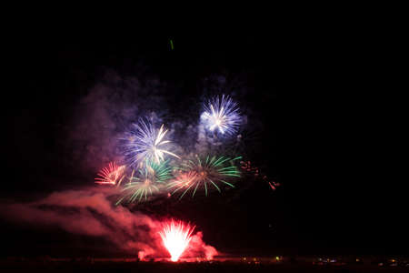 Colorful fireworks of various colors over night sky Stock Photo - 22497226