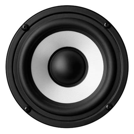 Black white speaker isolated on white background