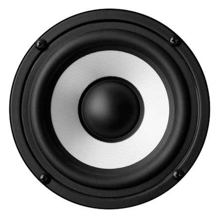 Black white speaker isolated on white background Stock Photo - 22497343