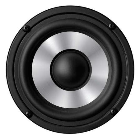 oscillations: Black white speaker isolated on white background
