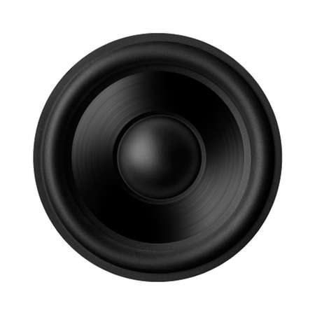 Black speaker with a metal membrane photo