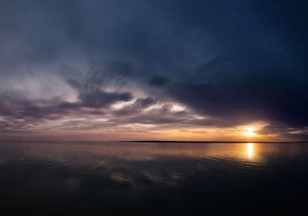 sunset on the lake, Manych Gudilo