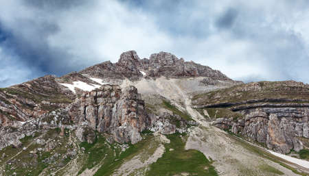 views of the cliffs of Mount Oshten Stock Photo