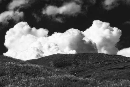 clouds over the mountain plateau