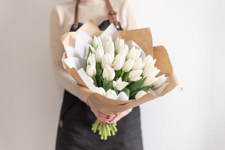 flowers in hands