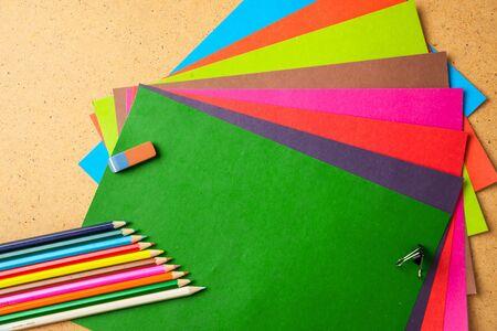 Back to school concept. School supplies. Copy space.