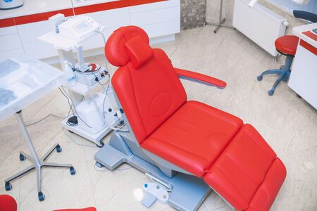 Dental office. Chair in the dentist's office. Dentistry Concept.