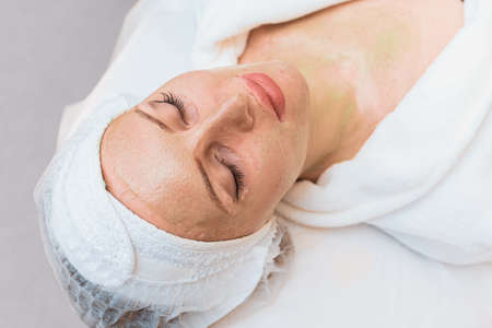 Rejuvenation procedure with an enzyme mask in modern cosmetology.