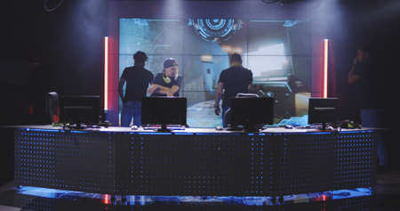 Full shot of a team losing a match at a gaming tournament Stock fotó