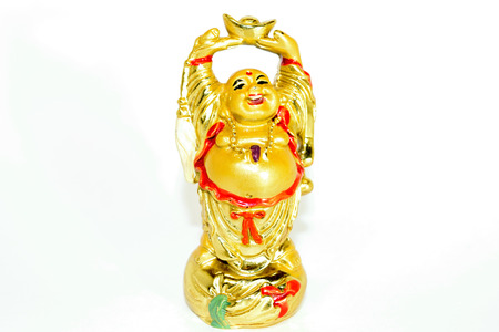 cupper: gold statuette on a white background