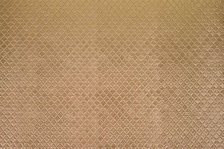 Texture of the yellow artificial leather, square. Standard-Bild