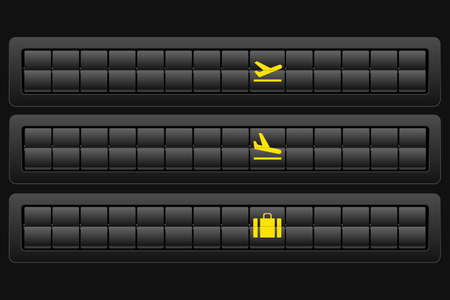 Flights scoreboard blank mockup. Vector illustration