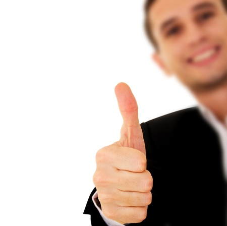Businessman With Thumb Up Stock Photo - 10871579