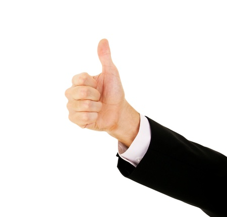 Businessman's Hand With Thumb Up on a white background Stock Photo - 10871577