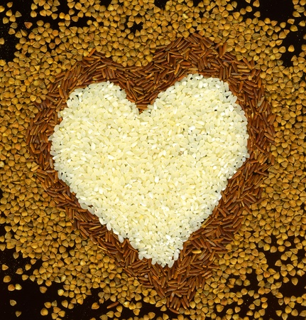 dietary fiber:  heart from buckwheat and rice