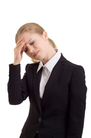 Young business woman with headache  photo