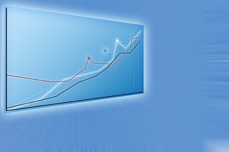 Future business solutions,   modern charts Stock Photo - 11533756