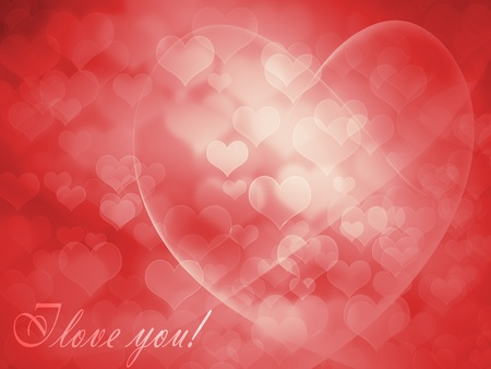 compliments: Greeting Card for Valentines Day with red hearts