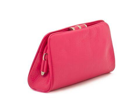 Borsa elegante rosa Donna - frizione su bianco