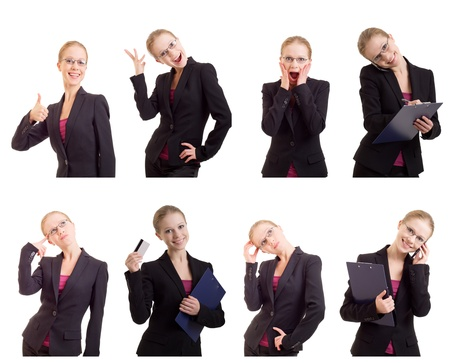 collage of a  successful business woman photo