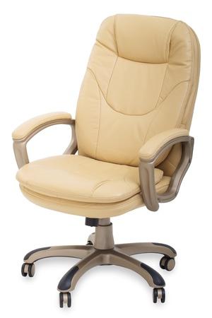 sedia vuota: nuova sedia da ufficio in pelle su ruote