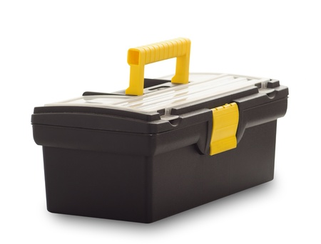 Tool box closed isolated on white background Stock Photo - 12390744