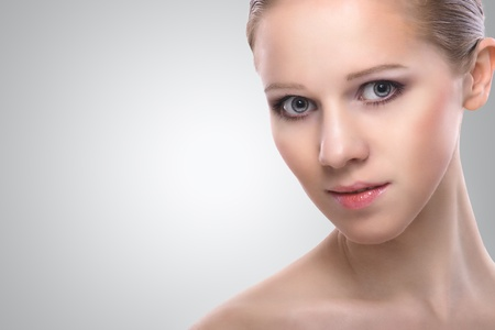 healthy face of beauty young woman Imagens