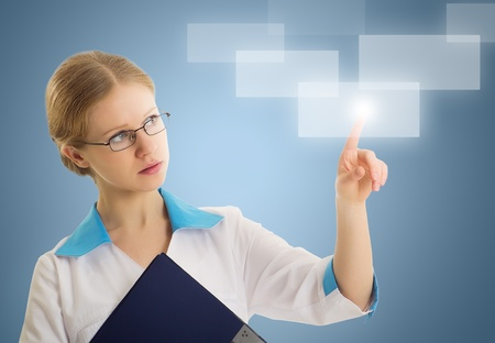 person making use of innovative technologies Stock Photo - 12390782