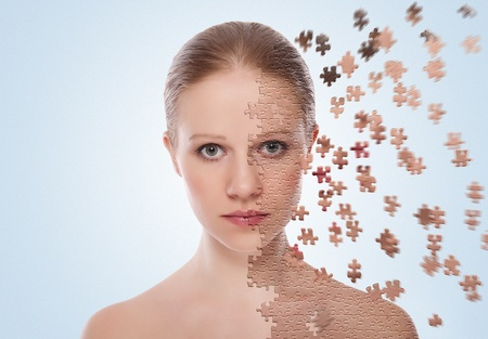 concept of cosmetic effects, treatment, skin care.  Stock Photo